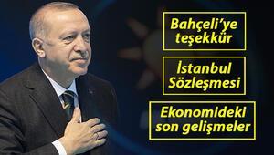 AK Partinin 7. Olağan Büyük Kongresi... İşte Cumhurbaşkanı Erdoğanın merakla beklenen konuşması