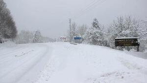 İneboluda kar yağışı; 34 köy yolu ulaşıma kapandı
