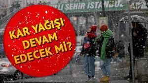 İstanbula kar yağacak mı Meteoroloji uyardı... İşte MGM 25 Mart il il hava durumu