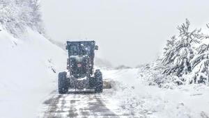 Karadenizde kar nedeniyle 71 köy yolu kapandı