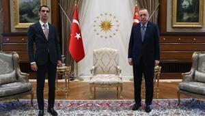 Cumhurbaşkanı Erdoğan, Muhsin Yazıcıoğlunun oğlu Fatih Furkan Yazıcıoğlunu kabul etti