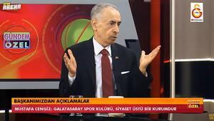 Galatasaray Başkanı Mustafa Cengiz, Fenerbahçenin 28 şampiyonluk talebine dair kulüp televizyonunda açıklamalarda bulundu.