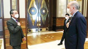 Çin Dışişleri Bakanı Beştepe'de