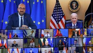 ABD Başkanı Biden AB liderleri ile çevrim içi görüştü