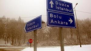 Bolu Dağında kar yağışı devam ediyor