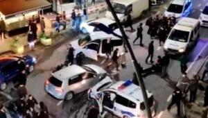 Ümraniyede aksiyon filmi gibi olay Polisten kaçarken polis aracına çarptı