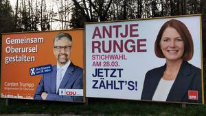 Pazar günü Hessen'de ikinci tur seçimleri var