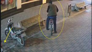 Kendi bisikletini kilitledi, kilitsiz bisikleti çaldı