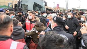 Adliye önünde Boğaziçi gözaltıları için yapılan eyleme müdahale: Çok sayıda gözaltı
