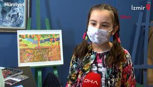 Göbeklitepeyi resmeden 10 yaşındaki Laraya Japonyadan ödül