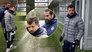 Son dakika: Emre Belözoğlu, Fenerbahçe ile ilk antrenmanında Volkan Demirel ve Selçuk Şahin...