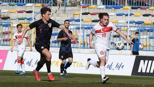 Ümit Milli Futbol Takımı, hazırlık maçında Hırvatistana kaybetti