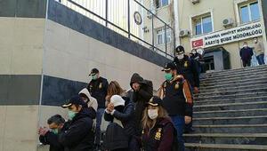 İstanbulda fuhuş operasyonu: 21 kişi tutuklandı