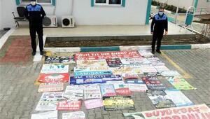 Süleymanpaşa'da izinsiz asılan afişler toplatıldı