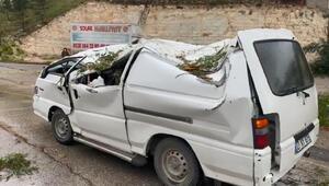 Şanlıurfada fırtına... Ağaçlar devrildi, 4 araç hasar gördü