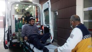 Adıyaman'da inşaat işçisi iskeleden düşerek yaralandı