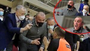 Büyükçekmece Basketbol-Galatasaray maçında gergin anlar