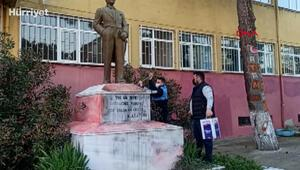 Tekirdağda Atatürk heykeline çirkin saldırı