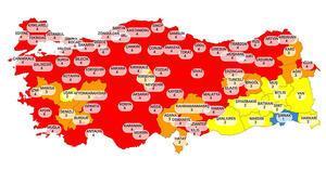 Son dakika haber... Cumhurbaşkanı Erdoğan yeni risk haritasını yayınladı