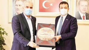 İmamoğlu'ndan AK Partili başkana ziyaret