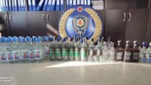Tekirdağda 68 şişe kaçak içki ele geçirildi