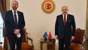 Meclis Başkanı Şentop, AKPM Başkanı Daems ile görüştü
