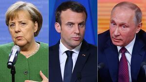 Putin, Merkel ve Macron ile çevrim içi görüşme yaptı
