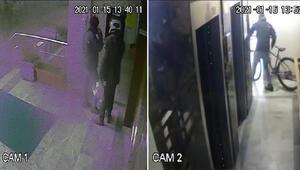 Esenyurtta bisiklet hırsızlığı kamerada