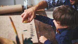 Patates baskı nasıl yapılır İşte çocuklar için patates baskı çalışması