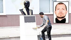 Atatürk'ün heykellerine saldıran provokatör yakalandı