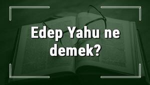 Edep Yahu ne demek Edep Yahu deyiminin anlamı ve örnek cümle içinde kullanımı (TDK)
