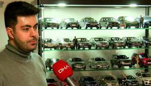 100 bin liralık maket otomobil koleksiyonu