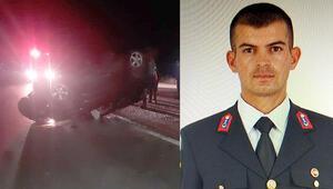 Trafik kazası yapan  Astsubay Çavuş Cihat Çevik hayatını kaybetti