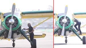 Harrison Ford tutkusundan vazgeçmiyor: Ünlü oyuncu uçağına atlayıp gitti