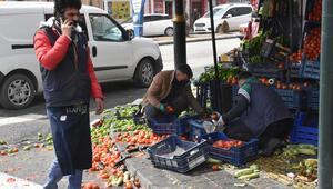 Sivasta pazarcılar ile manav tartıştı