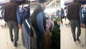 Sosyal medyayı ayağa kaldıran görüntü Bastonlu tacizci gözaltına alındı