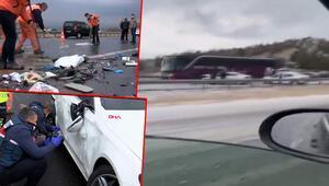 Son dakika... Ankarada TEM otoyolunda zincirleme kaza 4 ölü, 5 yaralı