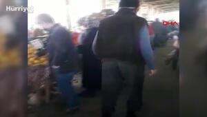 Pazara gelen kadınları taciz eden bastonlu adam, gözaltına alındı