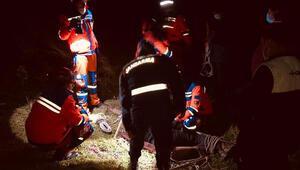Sarp arazide çalışırken düşen maden mühendisi kurtarıldı