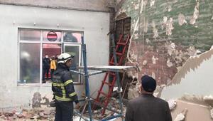 Tarihi camide yangın korkuttu