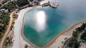 Bodrumda plaja mermer ve kuvars tozu döken 2 işletmeye 575 bin 263 TL ceza