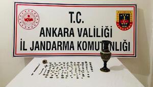 Ankarada, 125 adet tarihi eser ele geçirildi