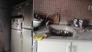 Samsunda kıyafetlerini ateşe verince evi yaktı