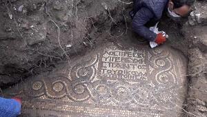 Kaçak kazı sırasında manastır ve 1500 yıllık mozaik bulundu