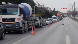 Kopan yüksek gerilim hattının onarımı için D-100 Karayolu trafiğe kapatıldı