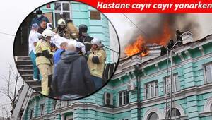 Rusyada inanılmaz anlar: Yangın esnasında açık kalp ameliyatı