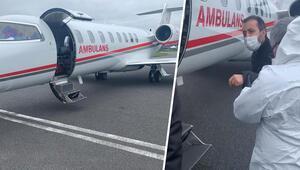 Türk hasta Londra'dan ambulans uçakla Türkiye'ye götürüldü