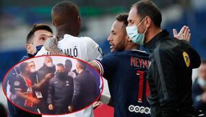 PSG - Lille maçında gerginlik Neymar ile Tiago Djalo tünelde tartıştı
