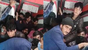 Ankarada 17 kişilik minibüsten 40 göçmen çıktı