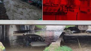 Bursada sağanak; Köprü yıkıldı, ağaç devrildi